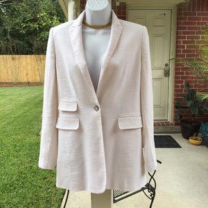 Ann Taylor white blazer coat jacket women's size 0